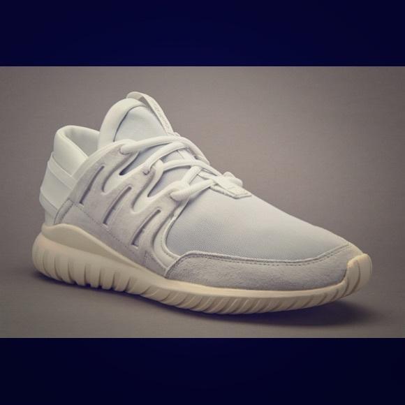 Adidas tubular nova vintage white size 10